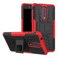 Armatura Auto magnetica Dura di Gomma della Cassa Del Telefono per Nokia 1 2 3 5 6 8 2.1 3.1 3.2 4.2 6.1 7.1 5.1 8.1 X5 X6 X7 Più Il 2018 Cover Posteriore