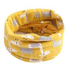 Осенне-зимний хлопковый шарф для маленьких девочек, детские нагрудники-шарфы, теплый шарф с круглым вырезом для мальчиков и девочек, милый детский шарф с воротником