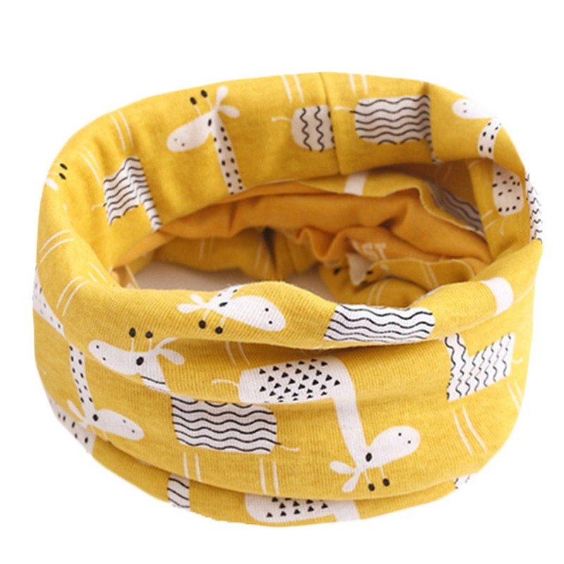 New Autumn Winter Baby Girls Cotton Scarf Children Scarf Bibs Warm Boys Girls O Ring Scarf Lovely Kids Collar Children Bufandas