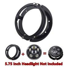 """5 3/4 นิ้วไฟหน้าแหวนยึดแหวนสำหรับรถจักรยานยนต์ 5.75 """"ไฟหน้าไฟหน้าสีดำ/Chrome"""