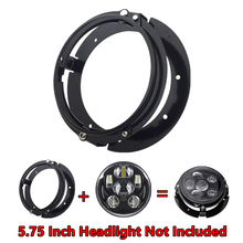 "5 3/4 Inch Round Headlight Ring Mounting Bracket Ring for Motorcycle 5.75"" Headlight Headlamp Black/Chrome"