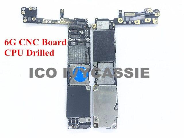 Für iPhone 6 6G CNC Bord Gebohrt Mit CPU 16GB 64GB 128GB iCloud Gesperrt Motherboard Entfernen CPU Swap Mainboard Logic Board
