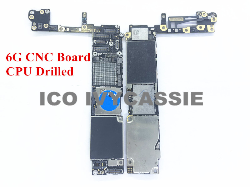 For iPhone 6 6G CNC Board Drilled With CPU 16GB 64GB 128GB iCloud Locked Motherboard Remove CPU Swap Mainboard Logic Board-in Integrated Circuits from Electronic Components & Supplies