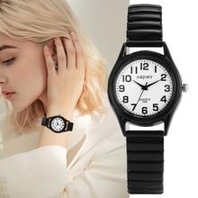 Quartz-Watch Watchband Gift Valentine's-Day-Watch White Simple for Lover Arabic Numerals