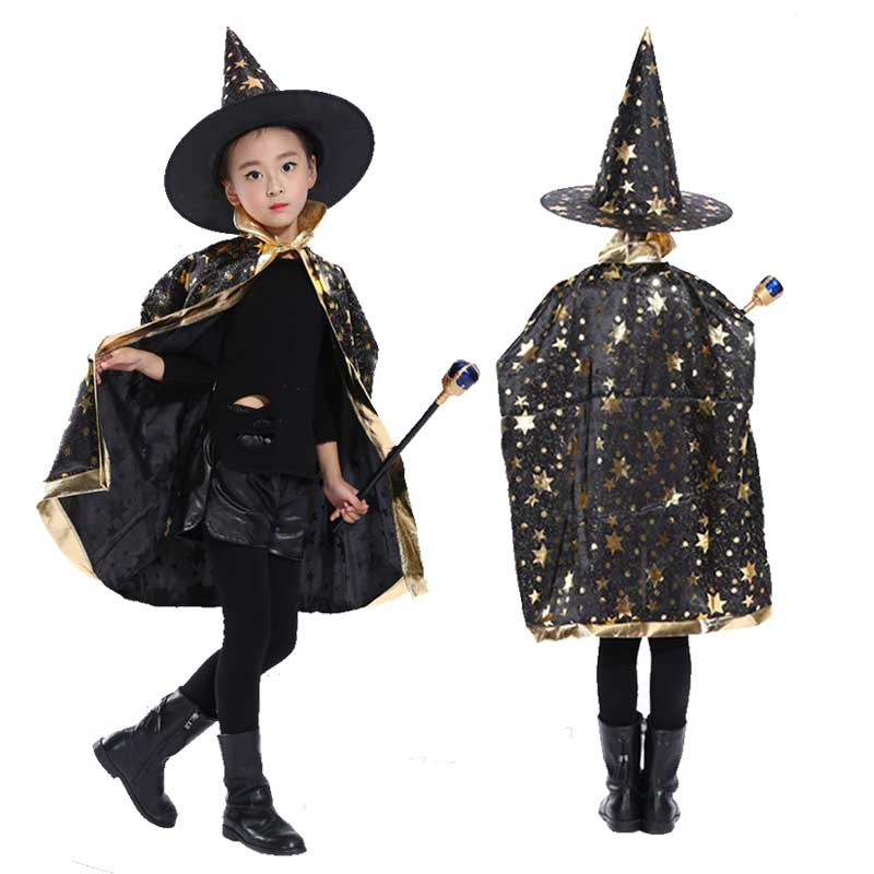 Halloween Costume Capes With Hats For Kids Boys Girls Halloween Pumpkin Halloween Costumes For Women Adult Costume