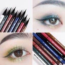 Xixi colorido lápis delineador macio cabeça secagem rápida à prova dwaterproof água longa duração vermelho azul roxo líquido delineador caneta ac042