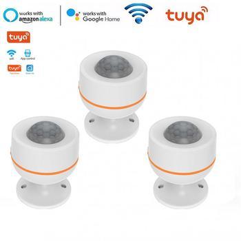 Tuya ZigBee inteligentny czujnik PIR czujnik ruchu czujnik wbudowany czujnik temperatury i wilgotności zasilany przez USB bezprzewodowy czujnik podczerwieni z Alex tanie i dobre opinie centechia NONE CN (pochodzenie)
