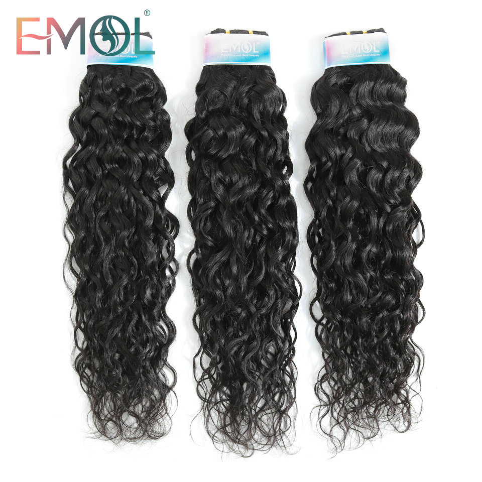 Emol Indian Water Wave Bundle Hair Extension 8