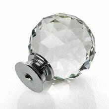 Обязательный прозрачный алмаз стеклянные дверные ручки Шкаф ящика Ручка для мебели ручка незаменимая для семьи