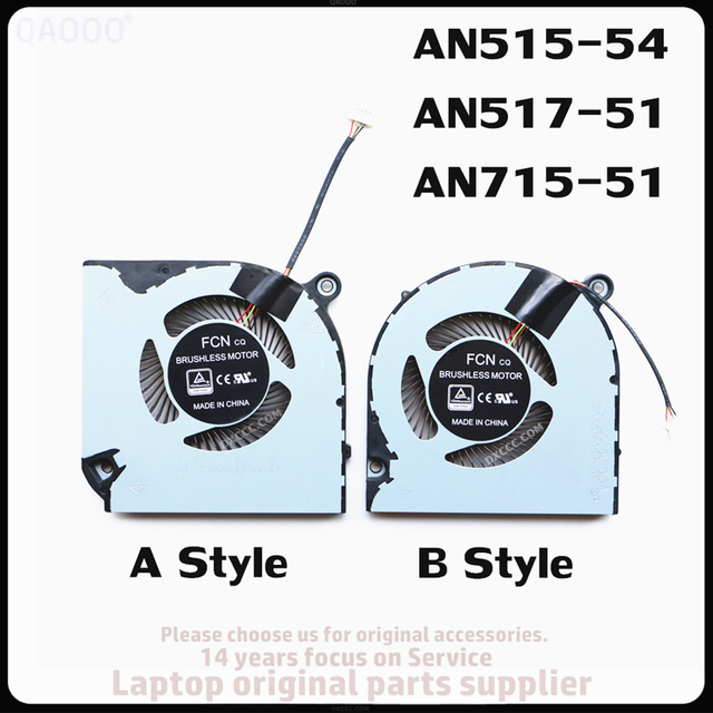 Laptop Replacement Part FOR ACER  Nitro 5 AN515-54 / AN517-51 / Nitro 7 AN715-51 CPU COOLING FAN