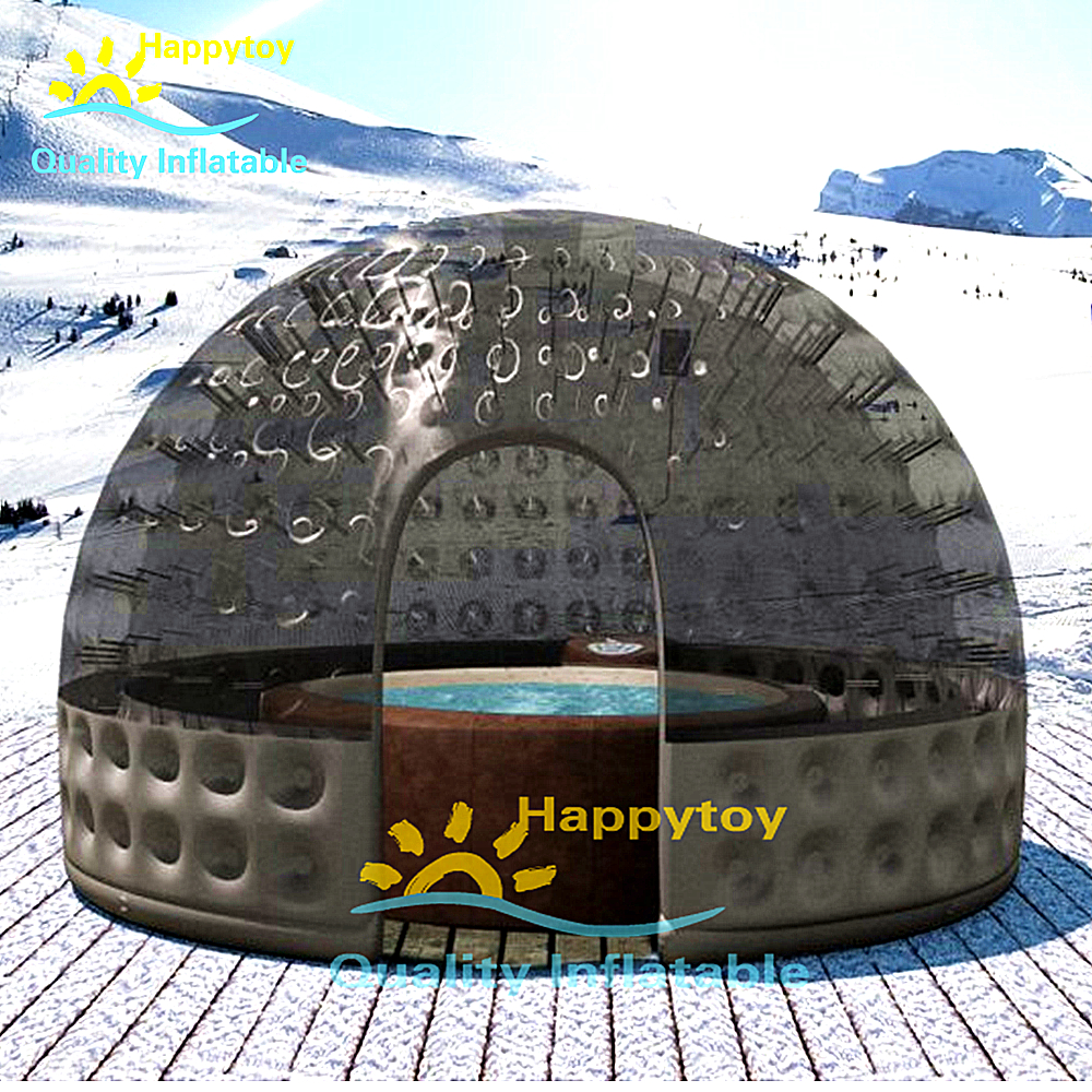 Free Shipping Transparent Inflatable Bubble Tent PVC Dome Igloo Camping Tent For Camping