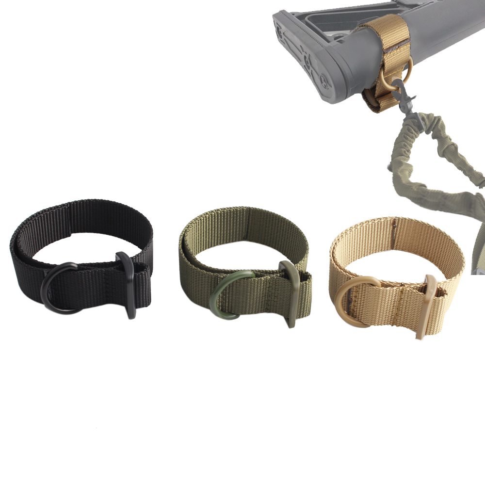 Magorui Military Airsoft Tactical ButtStock Sling Adapter Rifle Stock Gun Strap Gun Rope Strapping Belt