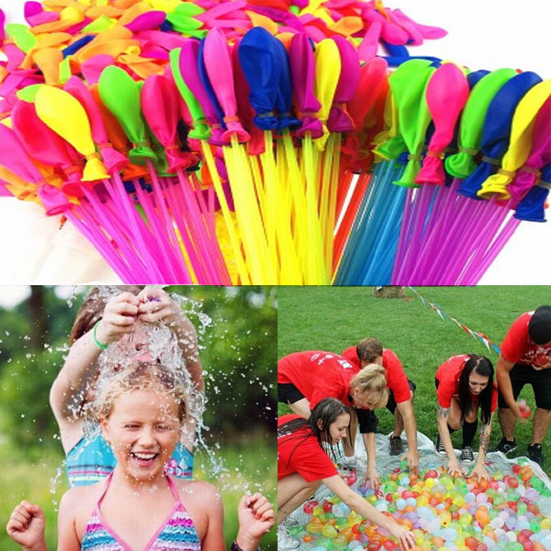 111PCS Funny Filling Water Balloons Summer Outdoor Toy Balloon Bunch Water Balloons Bombs Novelty Gag Rapid Water Summer Toys