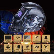 Capacete de soldagem automático máscara capacete de soldagem elétrica escurecimento automático soldagem tig mig lente máscara