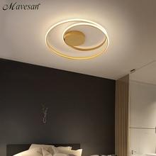 Nowoczesne lampy sufitowe LED lampa do salonu sypialnia gabinet biały kolor czarny do montażu na suficie lampa Deco AC85 265V