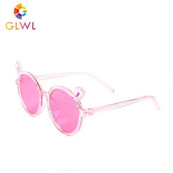 Okulary przeciwsłoneczne dla dzieci 2021 różowe okulary przeciwsłoneczne dla dziewczynek kolorowe soczewki oczu jasne okulary dla dzieci śliczne małe okrągłe okulary przeciwsłoneczne lato tanie i dobre opinie Whale bay CN (pochodzenie) Dziewczyny Okład Z tworzywa sztucznego NONE UV400 47MM GLWL2007-2 50MM Black Blue Pink Yellow