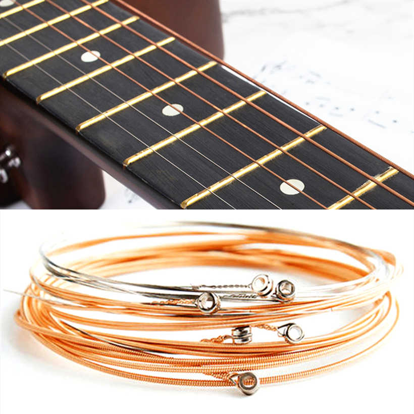 6pcs Pure Copper Strings 1-6 for Classical Classic Guitar Strings Steel Wire Classic Acoustic Folk Guitar Parts Accessories