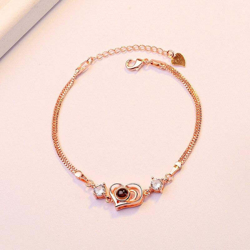 ZTUNG XGP14 classique coeur vendre produit bracelet en pierre noire nouveaux bijoux femmes et fille bijoux pour cadeau d'anniversaire livraison gratuite