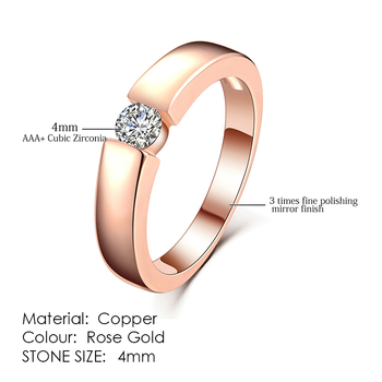 ZHOUYANG Ring For Women Simple Style Cubic Zirconia Wedding Ring Light Gold Color Fashion Jewelry KBR103 11