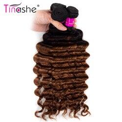 Tinashe włosy luźne głęboka fala wiązki 1B 30 Ombre wiązki Remy brazylijski ludzki włos wyplata pasemka przedłużające kolorowe 3 zestawy