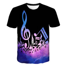 2021 new music notes interesting print T-shirt men and women summer music short-sleeved men's casual top 110/6XL
