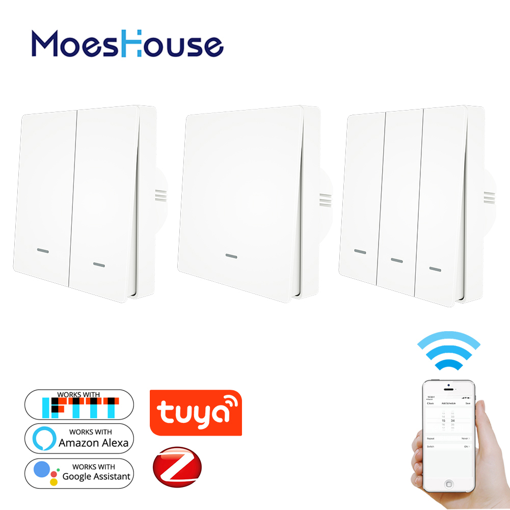 Tuya ZigBee Light Switch Push Button Tuya ZigBee Hub Required Smart Life APP Remote Control Work With Alexa Google Home