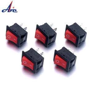 rocker switch self locking switch 2pin KCD5-101/2/3 13.5*9mm ON-OFF 250V 3A 125V 6A Black SPST for power supply