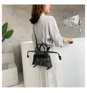 Image 4 - JIULIN חדש ג לי שקוף bag2019 חדש קיץ טרי יד כף כנף תיק קוריאני חד כתף אלכסוני תיק גדול תיק