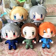 Toy Hetalia Keychain-Bags Cosplay Anime Plush Cute Pendant Wang Arthur Dolls Axis Yao