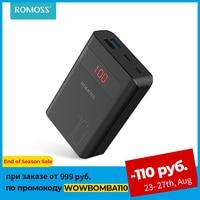 ROMOSS-cargador portátil de 10000mAh para móvil, batería externa PD 3,0 de carga rápida para iPhone y Xiaomi mi, Sense4PS