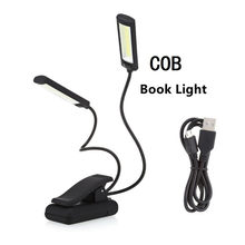 Adjustable Book Reading Desk Tablet Lamp Mini COB LED Sheet Music Stand Light Studay Lights With Clip Table LED Desk Light Lamp