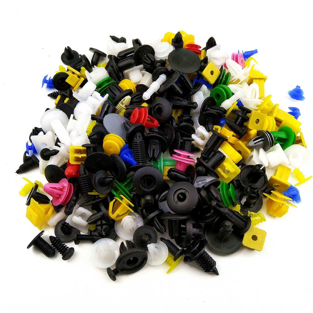 100pcs Universal Mixed Clips For <font><b>Volvo</b></font> S60 XC90 V40 V70 V50 V60 S40 S80 XC60 XC70 Car Accessories image