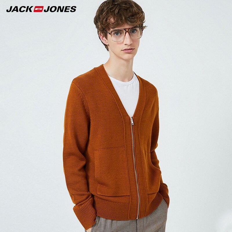 JackJones Mens V-neckline Cardigan Cashmere Knit Sweater| 219424501