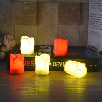 Velas luz LED candelita velas lámpara romántica creativa votiva sin llama batería colorido mejor regalo Navidad decoración boda