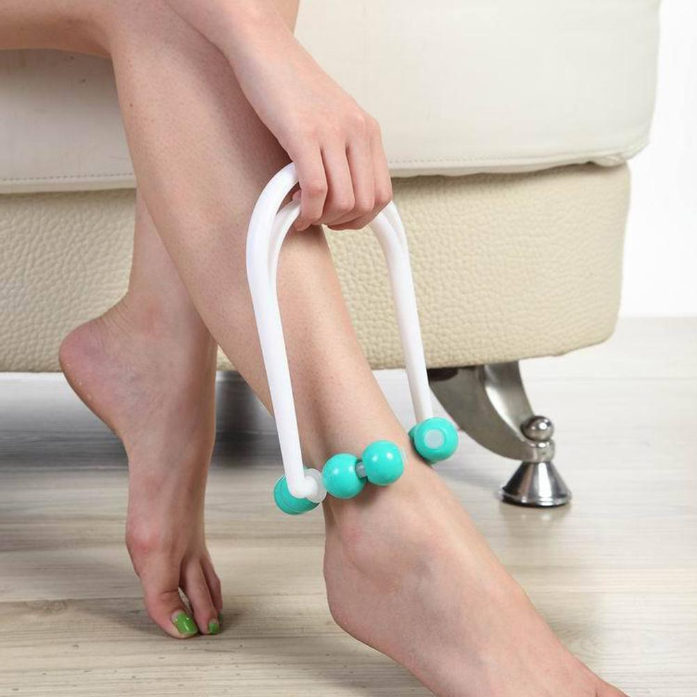 8 Beads Legs Massage Roller Manual Foot Calf Shaper Slimming Relaxation Massager Leg Muscle Massage Roller Health Care