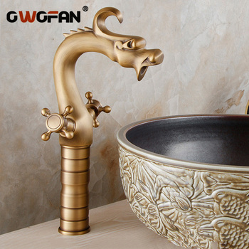 Basin Faucets Artist Designer Classic Special Bronze 2 Cross Handle Bathroom Sink Taps Gold-plating Antique Mixer Brass ZLY-2011