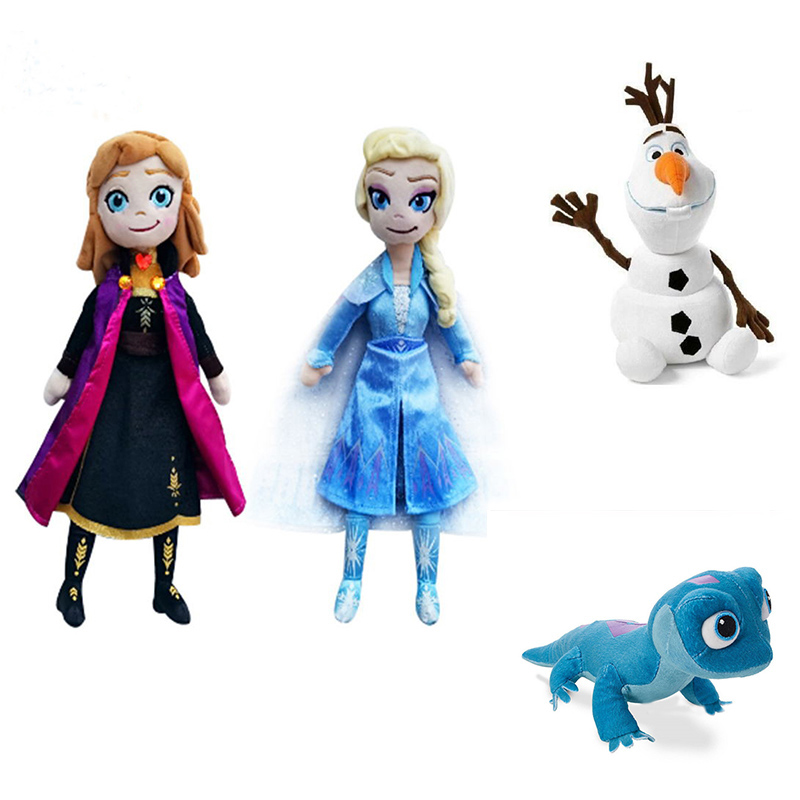 4 Styles Snow Queen Princess Anna Elsa Plush Doll 2020 NEW Fire Lizard 2 Fever Fire Elves Snowman Olaf Plush Doll For Kid Child