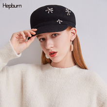 Hepburn brand 2019 Wool Winter Hats for Women Octagonal Newsboy Cap men flat cap Visor Beret Painter