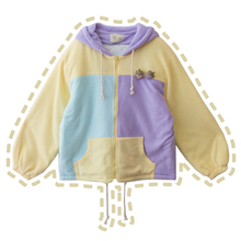 Зимнее теплое флисовое разноцветное лоскутное милое Женское зимнее пальто, свободная верхняя одежда, негабаритная Милая брошь в виде клубники для девочек
