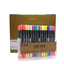 STA Watercolor Sketch Marker Double Head Soluble Colored 12/24/36/48/80Colors Brush Pen Set For Drawing Paints Art Supplies 72 100colors double head artist sketch watercolor brush pen set for comics drawing design paints art marker school supplies