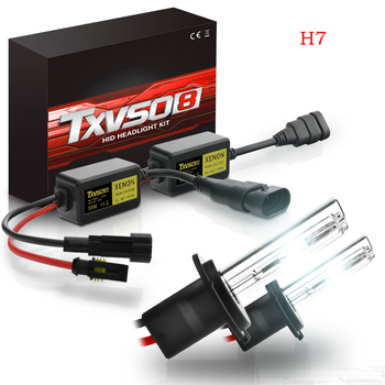 цена на Xenon H7 HID Headlights Kit 2Pcs 12V 55W Xenon Halogen Bulbs With H7 Ballast Car Headlamp 4300K 5000K 6000K 8000K 10000K 12000K