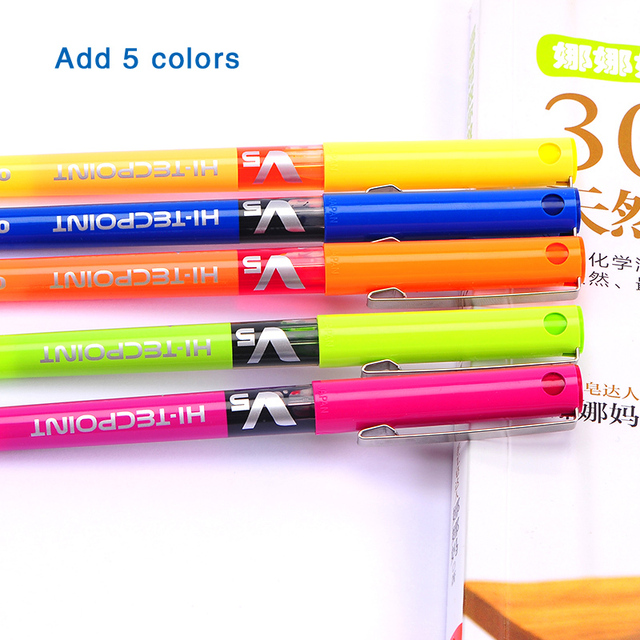 japan stationery PILOT BX-V5 0.5mm Straight pen Large capacity color ink ball pen School supplies 1