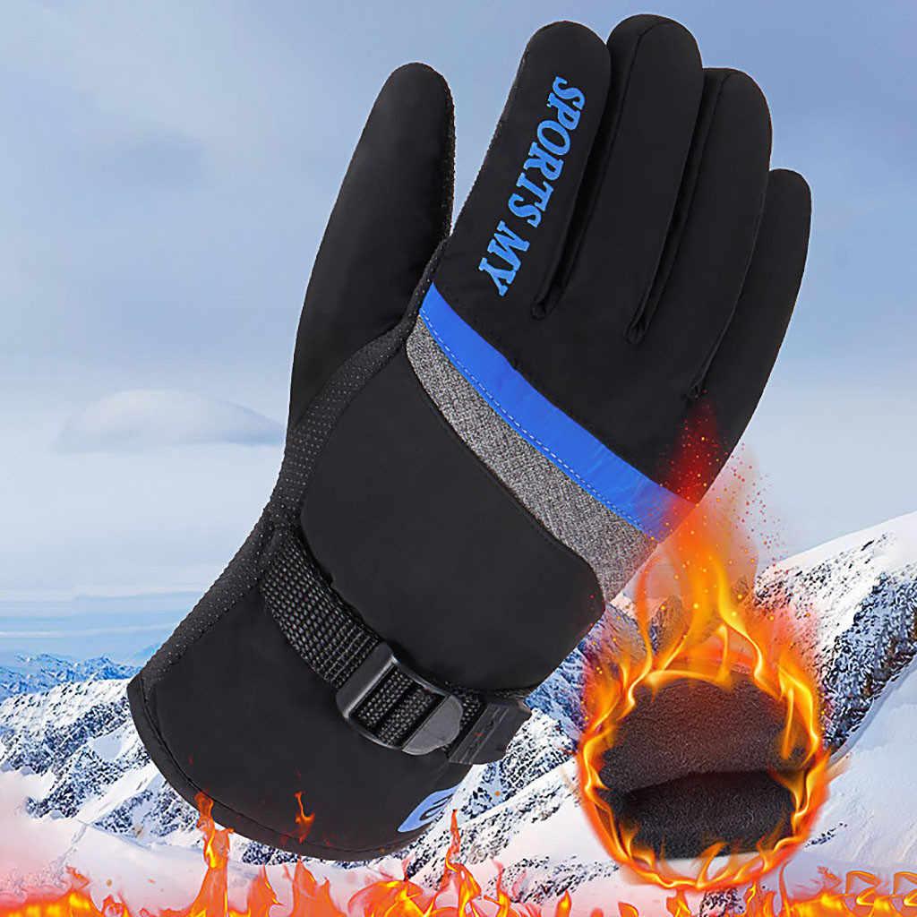 Kış kadın erkek kayak eldivenleri snowboard eldiveni motosiklet sürme su geçirmez kar Windstopper kamp eğlence Mitten sıcak satış # YL5