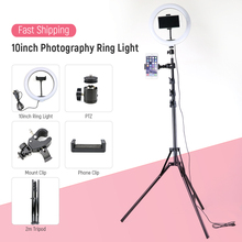 Camera studio Ring Lamp 26cm USB Selfie Ring Light with Tripod Phone Photography Led Makeup Ringlight for Youtube Video Live photography led selfie ring light 26cm dimmable camera phone ring lamp with tripod bluetooth remote for makeup video live studio