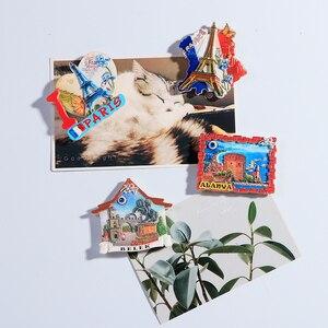Image 5 - Сувенирные магниты на холодильник, кантри Париж, резиновая наклейка на холодильник, путешествия, Турция, Италия, сувенирные магниты для Греции, холодильников, туристов