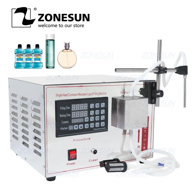 Máquina llenadora automática de bomba magnética ZONESUN GZ-YG1 bebida Perfume Alcohol hidrógeno peróxido jugo aceite esencial líquido