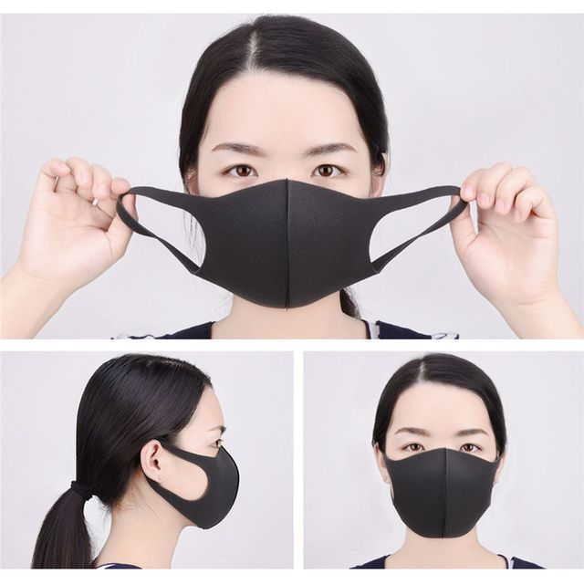 1 Pcs Mouth Mask Breathable Unisex Sponge Face Mask Reusable Anti Pollution Face Shield Wind Proof Mouth Cover 1