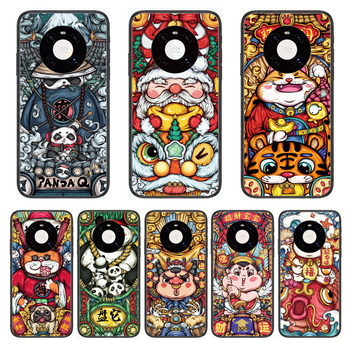 Lucky Trend Animation Phone Case For Huawei mate 30 10 20 40 Lite Smart Z Pro Black Etui 3D Coque Painting Hoesjes case image