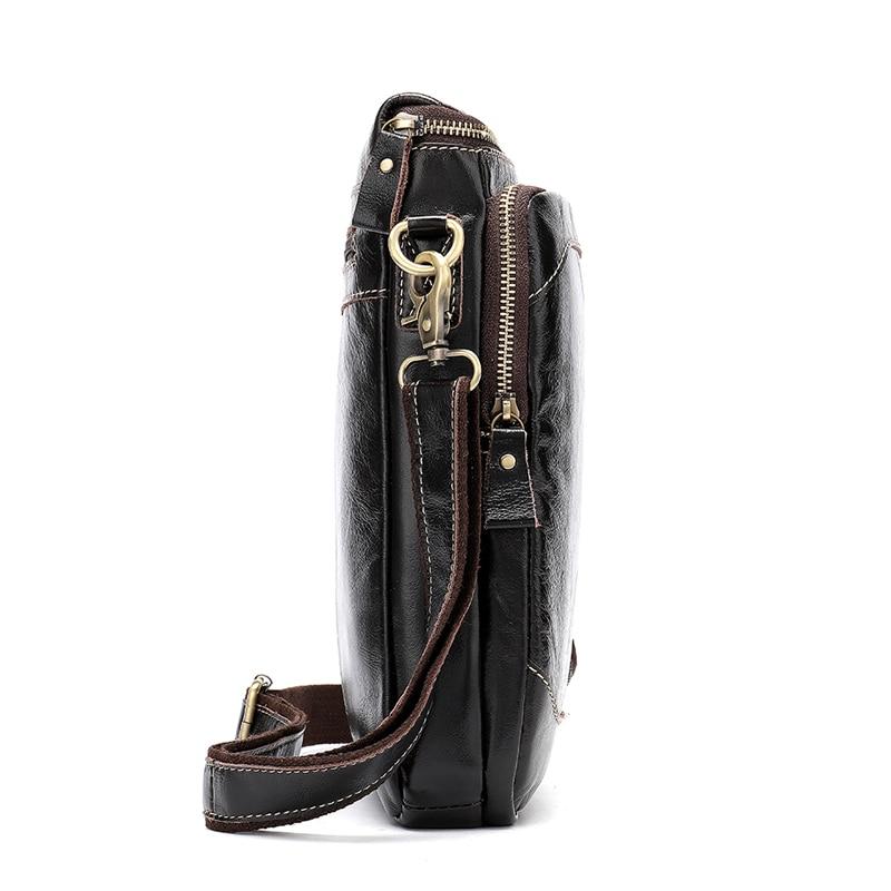 Image 3 - WESTAL Clearance Shoulder Bags for Men Bag Genuine Leather Men Messenger Crossbody Bags Male Flap Man Handbags Leather 8003Crossbody Bags   -