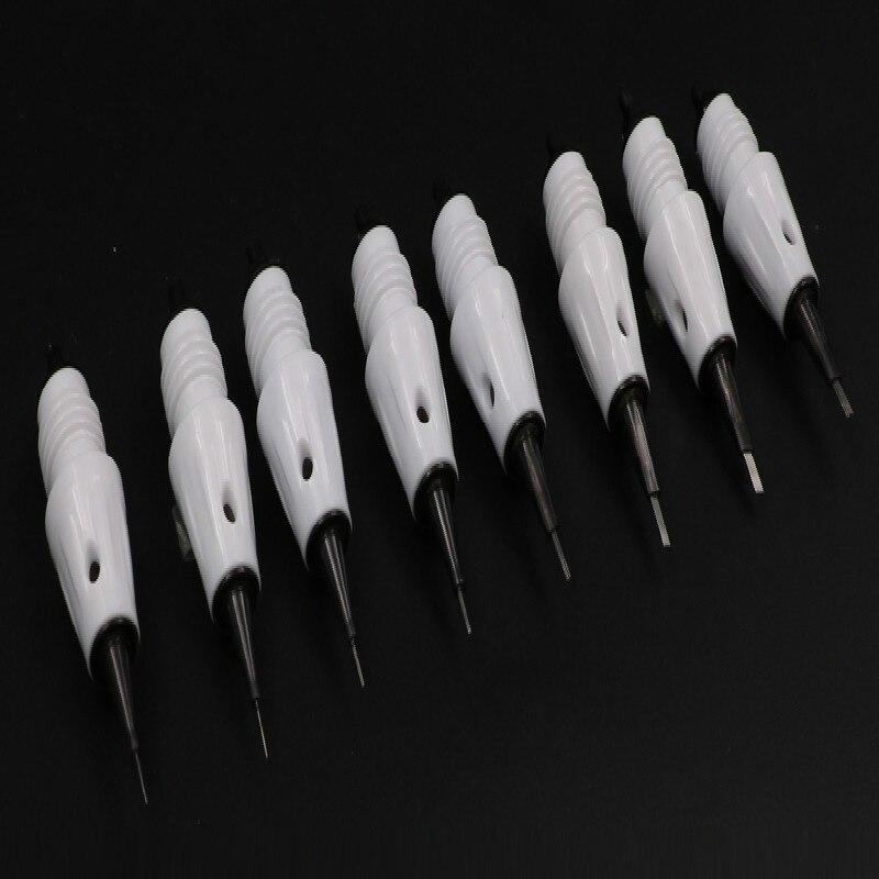do cartucho da tatuagem de microblading agulhas